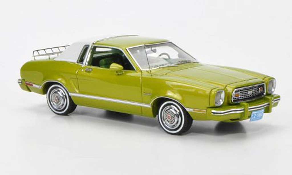 Ford Mustang 1974 1/43 Neo II Ghia green/white diecast