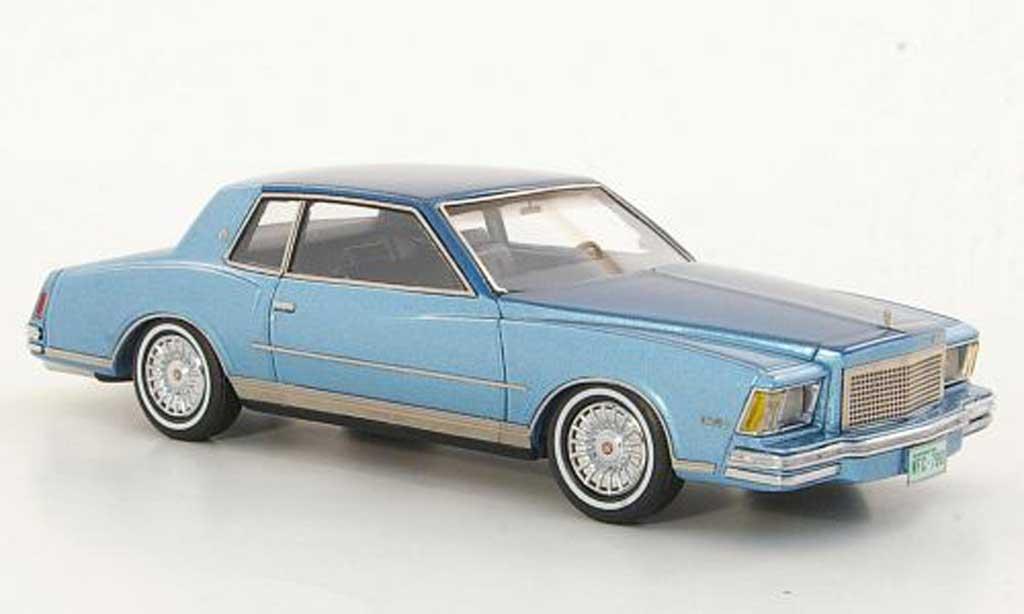 Chevrolet Monte Carlo 1/43 Neo bleu/bleu 1978 miniature