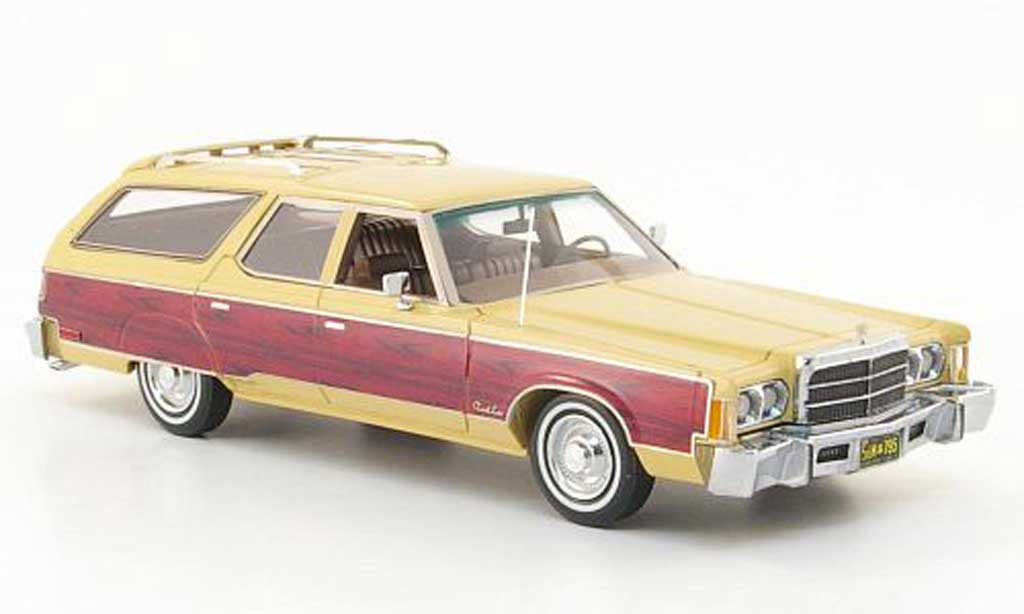 Chrysler Town & Country 1/43 Neo beige/Holzoptik 1976 miniature
