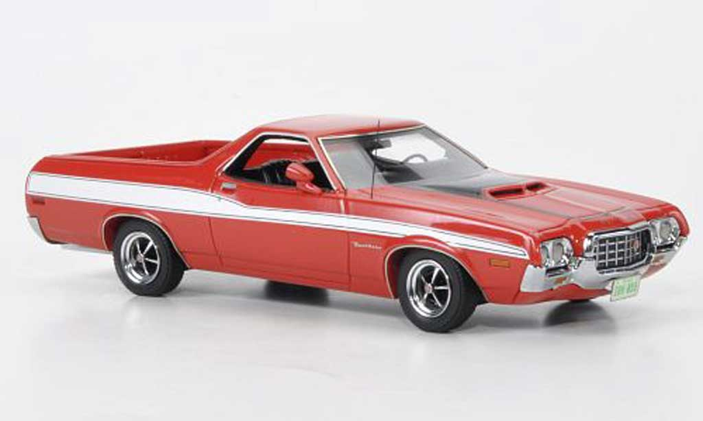 Ford Ranchero 1/43 Neo GT rouge/noire/blanche 1972 miniature