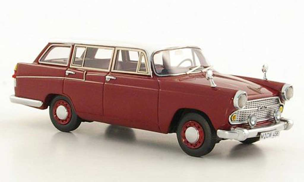Austin A60 1/43 Neo Cambridge Countryman rouge/blanche LHD limited edition 1966 miniature