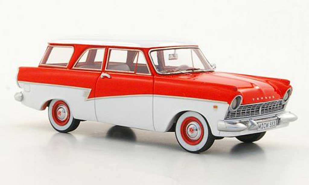 Ford Taunus 1957 1/43 Neo P2 17m Turnier rouge/blanche limited edition miniature