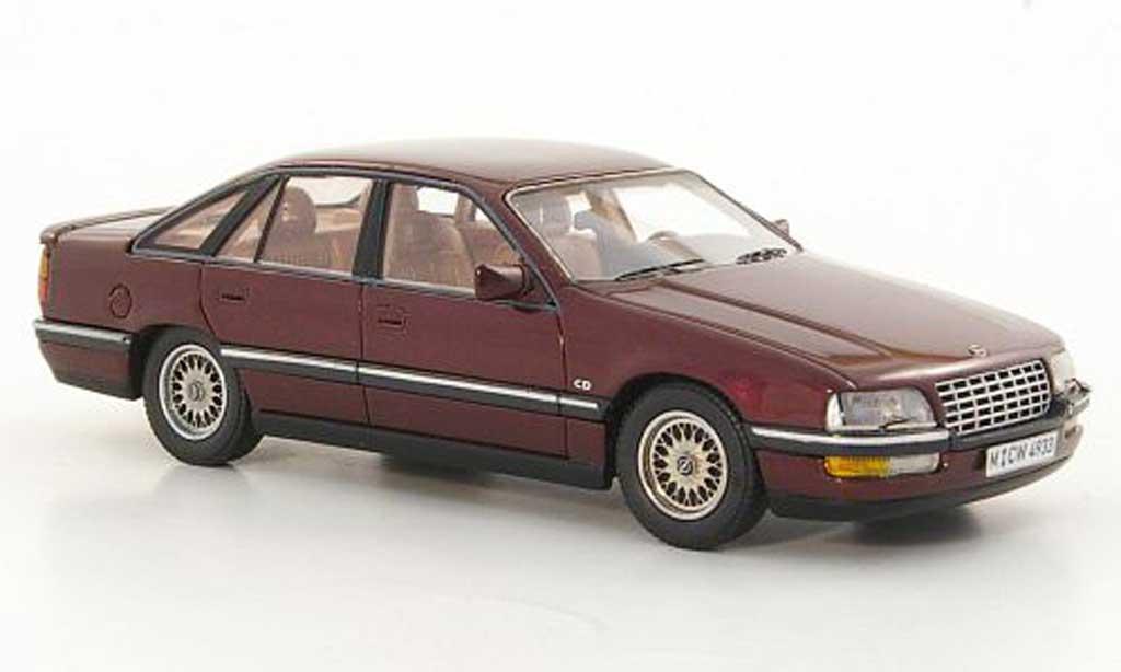 Opel Senator 1/43 Neo B 3.0i 24V rouge limited edition 1990 miniature
