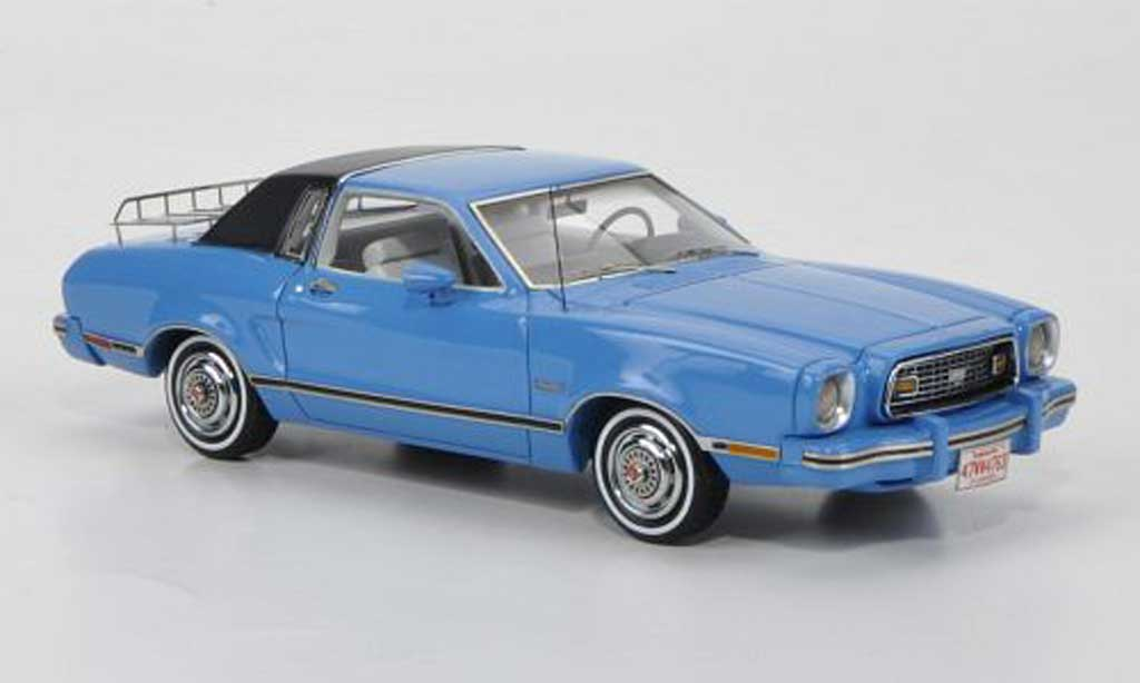 Ford Mustang 1974 1/43 American Excellence II Ghia azul/negro limited edition miniatura