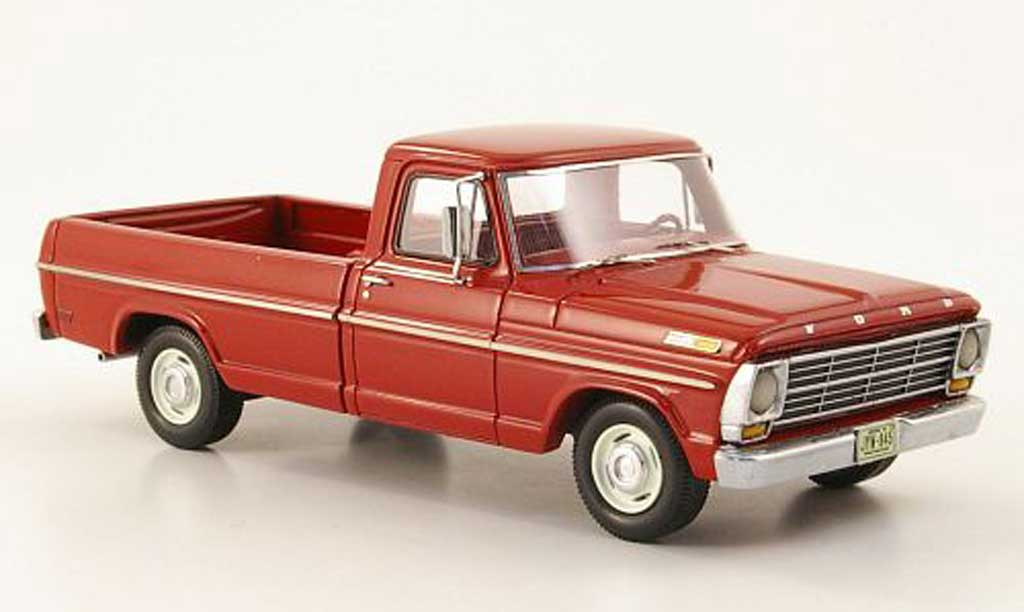 Ford F-100 1/43 Neo F 100 rouge 1968 miniature