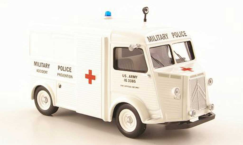 Citroen Type H 1/43 IXO Military Police Accident Prevention 1967 miniature