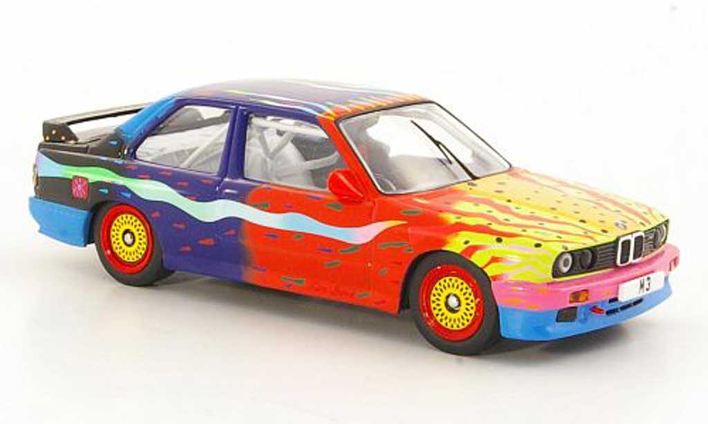 Bmw M3 E30 1/43 IXO Art Car Ken Done 1990 miniature
