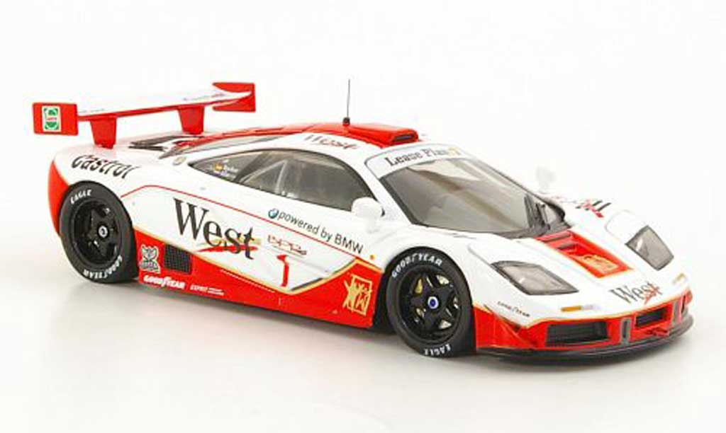 McLaren F1 1/43 IXO GTR No.1 West - Castrol T.Bscher / P.Kox 4h Spa 1996 miniature