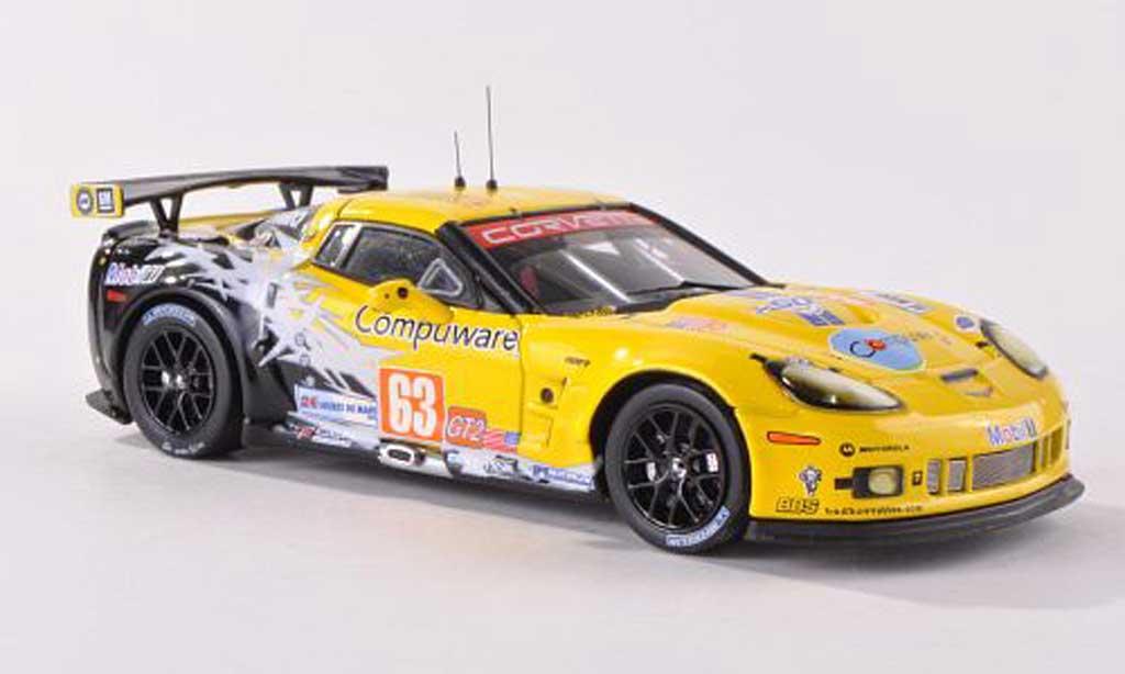 Chevrolet Corvette C6 1/43 IXO ZR1 No.63 Team Chevy LMGT2 24h Le Mans  2010 J.Magnussen/J.O'Connell/A.Garcia modellautos