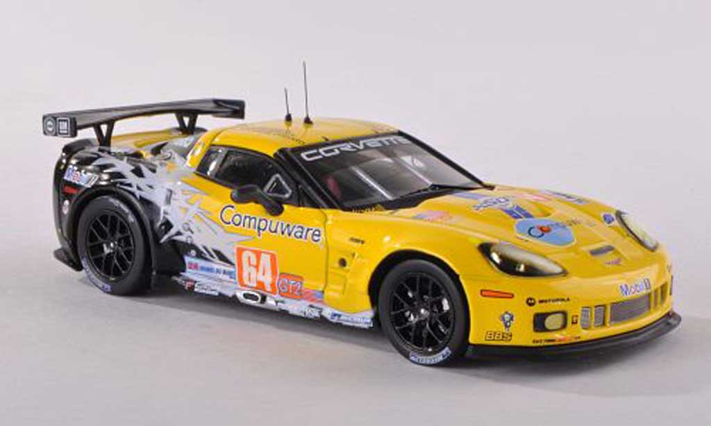 Chevrolet Corvette C6 1/43 IXO No.64 Compuware 24h Le Mans 2010 Gavin/Beretta/Collard miniature