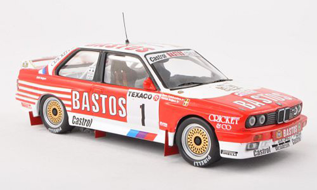 Bmw M3 E30 1/43 IXO No.1 Bastos Boucles de Spa 1988 P.Snijers/grey.Colebunders diecast model cars