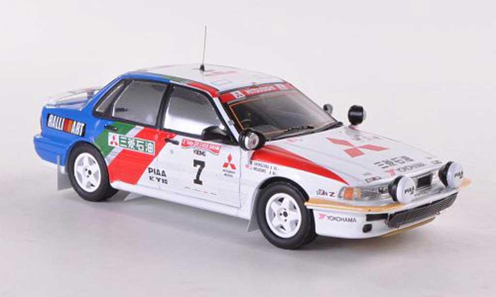 Mitsubishi Galant VR4 1/43 IXO Evo No.7 Ralliart Rally Elfenbeinkuste   1991 Shinozuka/Meadows miniature