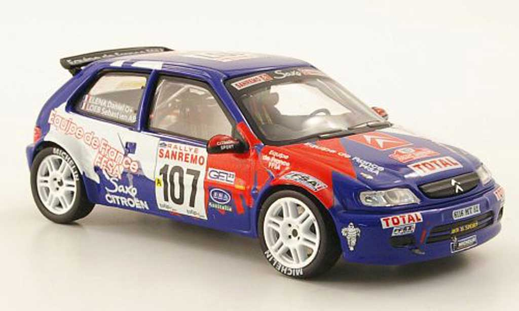 Citroen Saxo Kit Car 1999 1/43 IXO No.107 Rally Sanremo miniatura