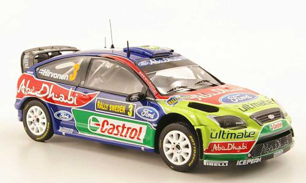 Ford Focus RS WRC 1/43 IXO No.3 Abu Dhabi Rally Schweden 2010 miniature