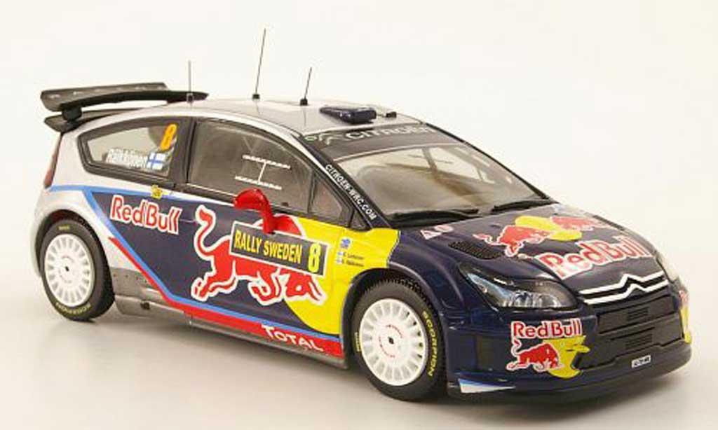 Citroen C4 WRC 2010 1/43 IXO No.8 Red Bull Rally Schweden miniature