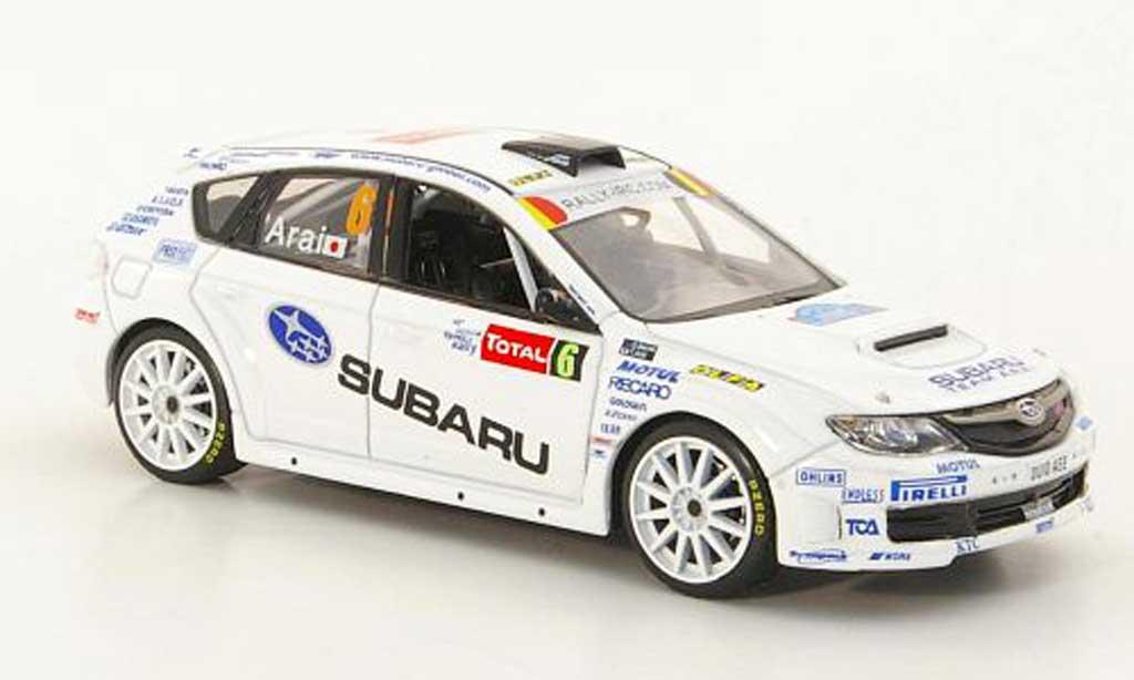 Subaru Impreza WRC 1/43 IXO STI No.6 T.Arai / D.Barret Rally Ypern 2010 miniature