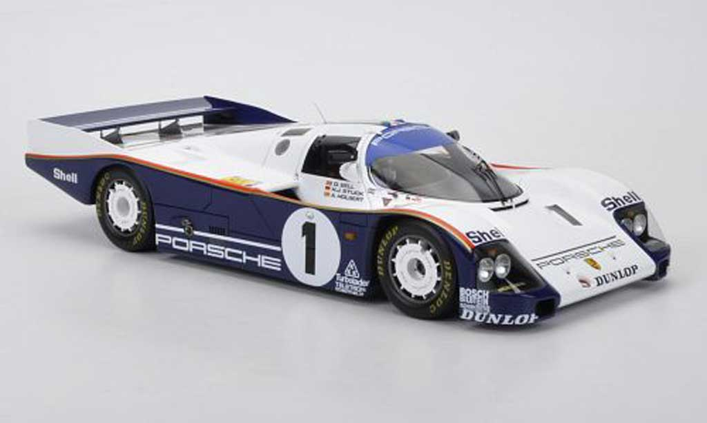 Porsche 962 1986 1/18 Spark C No.1 rojohmans D.Bell/A.Holbert/H.J.Stuck 24h Le Mans miniature