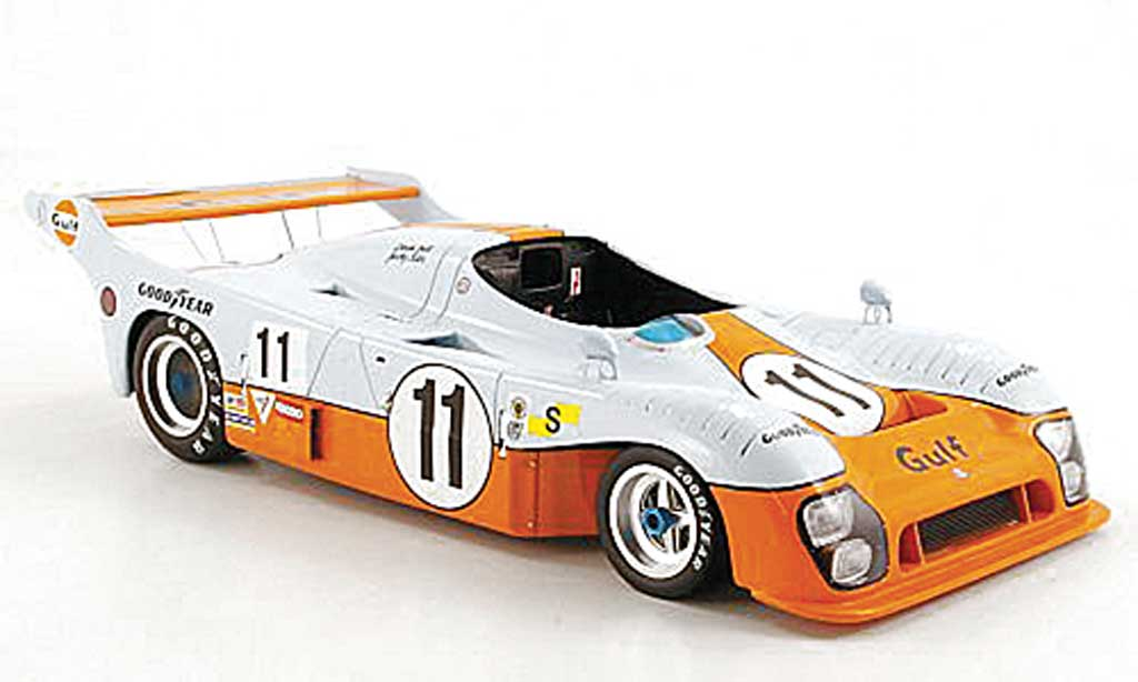 Mirage GR8 1/18 Spark No.11 Gulf J.Ickx/D.Bell 24h Le Mans 1975 miniature