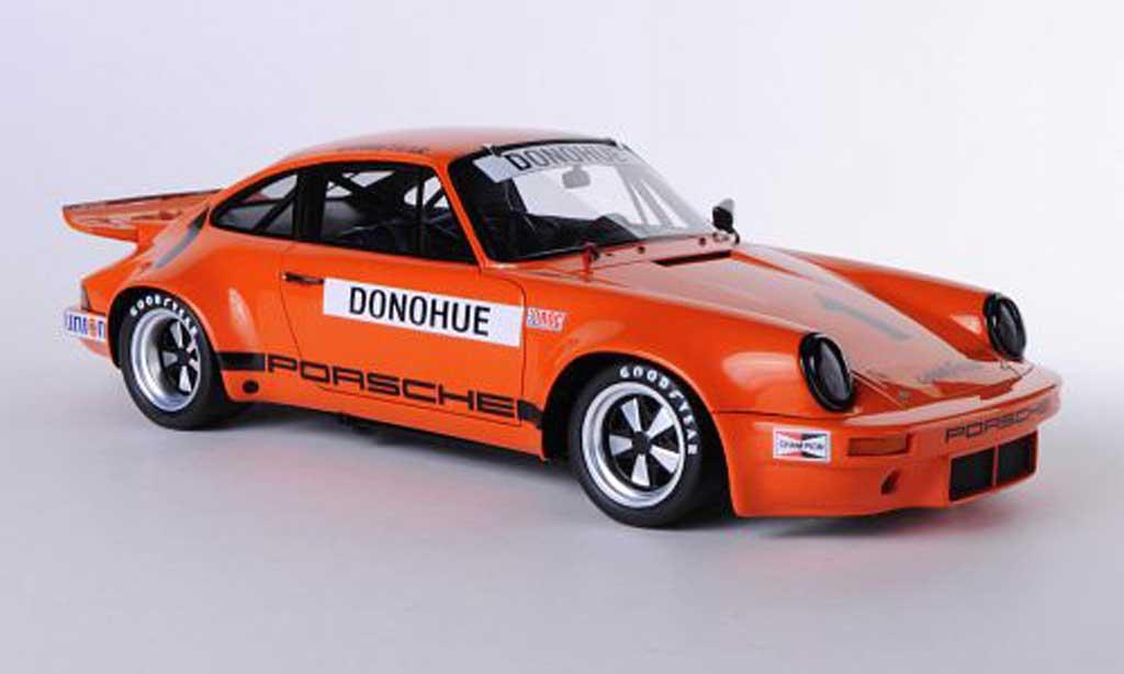 Porsche 930 RS 1/18 Spark 3.0 No.1 M.Donohue IROC 1975 miniatura