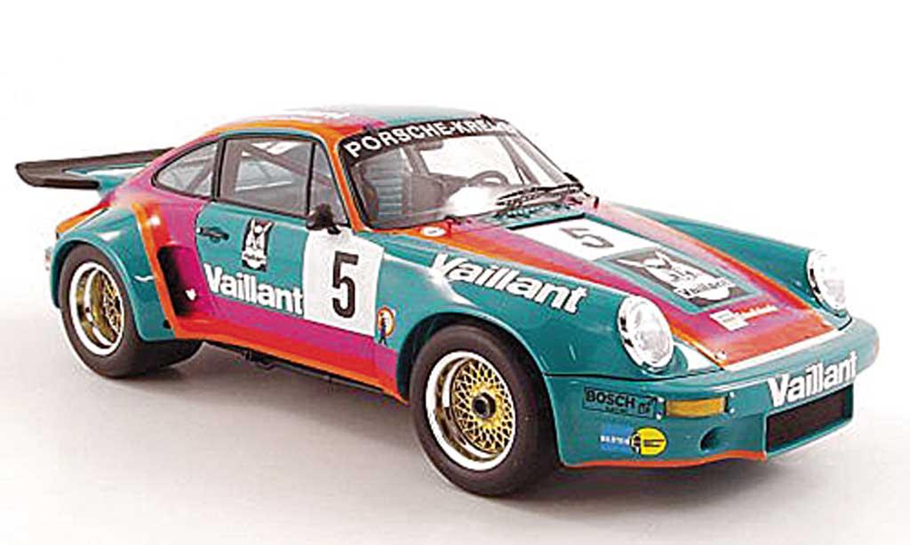 Porsche 930 RSR 1/18 Spark 3.0 No.5 Vaillant B.Wollek DRM 1975 miniature