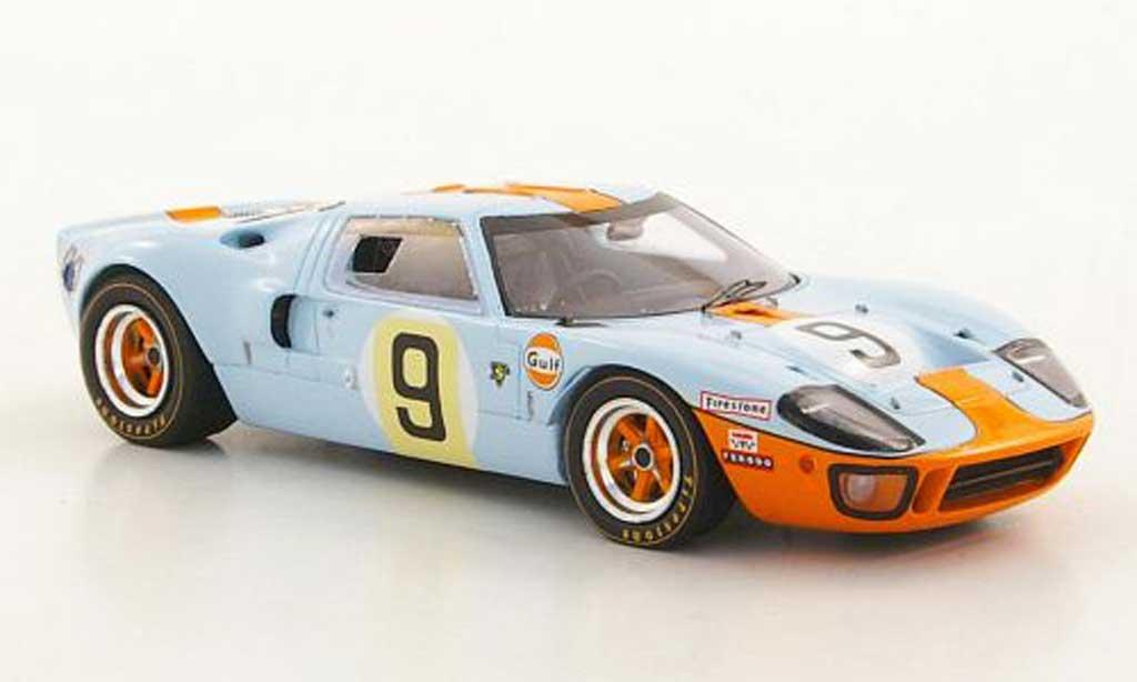 Ford GT 40 1/43 Spark No.9 Gulf P.Rodriguez / L.Bianchi Siegerfahrzeug 24h Le Mans 1968 miniature