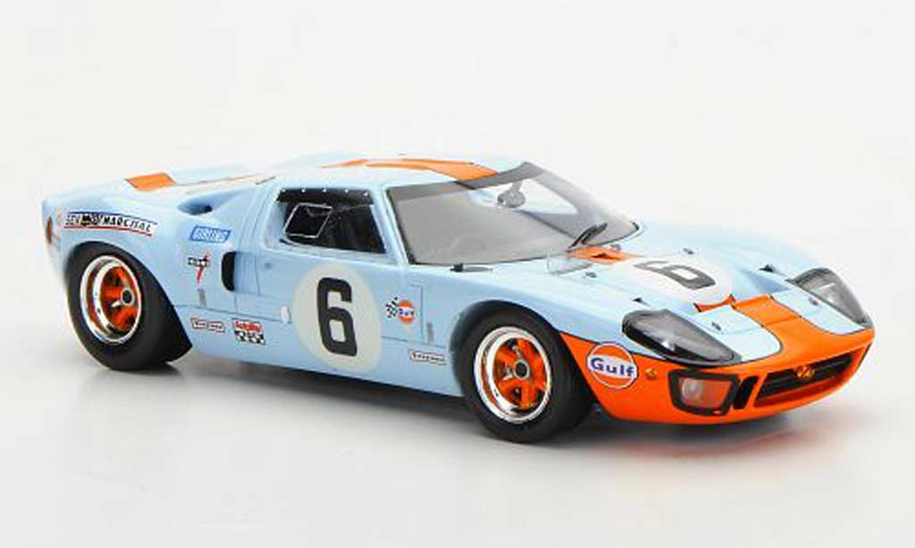 Ford GT 40 1/43 Spark No.6 Gulf J.Ickx/J.Oliver 24h Le Mans 1969 miniature