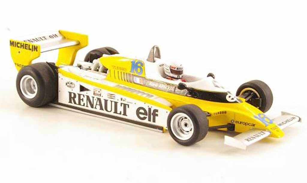 Renault F1 1980 1/43 Spark RE20 No.16 R.Arnoux GP Brasilien miniature
