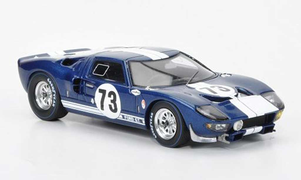 Ford GT 40 1/43 Spark No.73 K.Miles/L.Ruby 12h Daytona Continental 1965 miniature