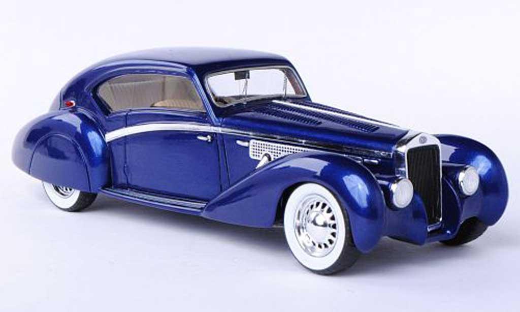 Delage D8-120 1/43 Spark Letourneur bleu 1938 miniature