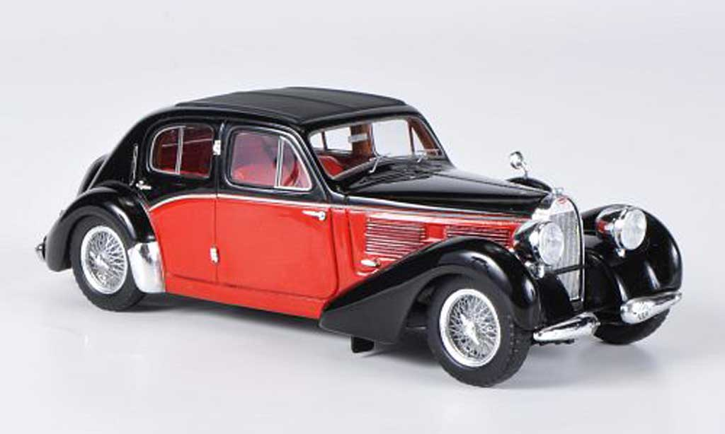 Bugatti 57 1/43 Spark Galibier black/red 1939 diecast model cars