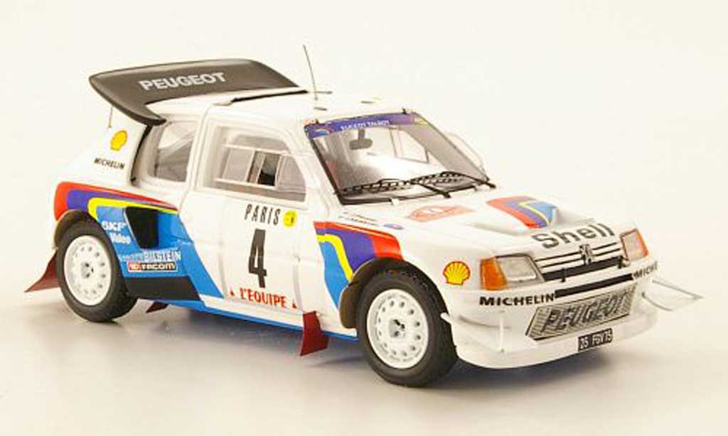 Peugeot 205 Turbo 16 1/43 Spark T16 Evolution 2 No.4 Monte Carlo Rally 1986 miniature