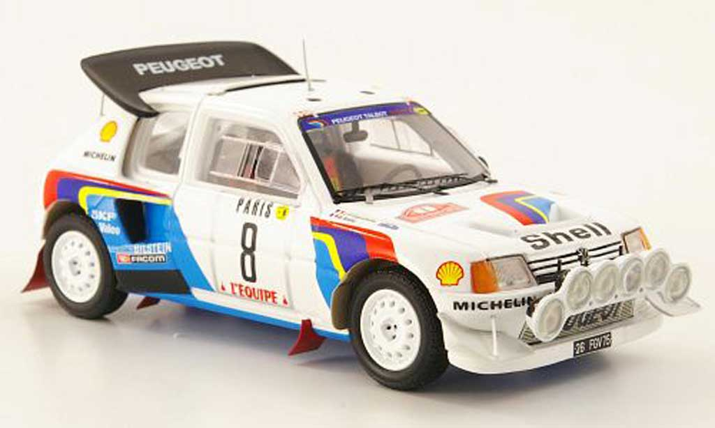 Peugeot 205 Turbo 16 1/43 Spark T16 Evolution 2 No.8 S Rally Monte Carlo 1986 modellautos
