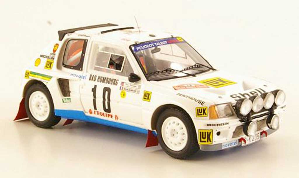 Peugeot 205 Turbo 16 1/43 Spark T16 No.10 M.Mouton/T.Harryman Rally Monte Carlo 1986 miniature