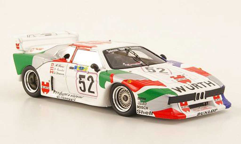 Bmw M1 1981 1/43 Spark No.52 Wurth 24h Le Mans diecast model cars