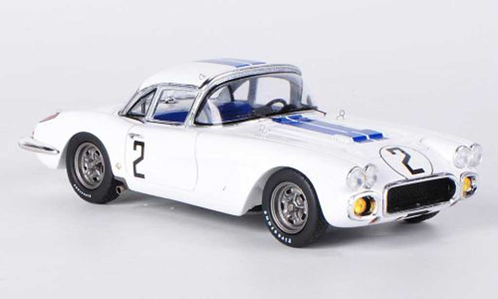 Chevrolet Corvette C1 1/43 Spark  No.2 R.Thompson / F.Windridge 24h Le Mans diecast model cars