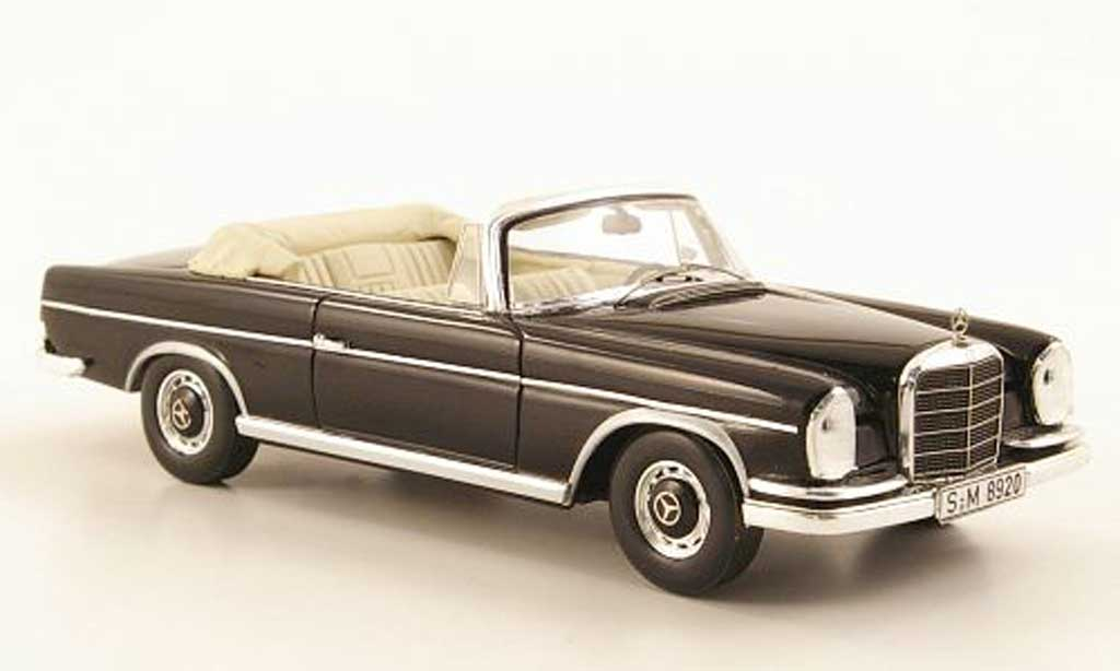 Mercedes 300 SE 1/43 Spark Cabriolet (W112/3) noire 1963 miniature