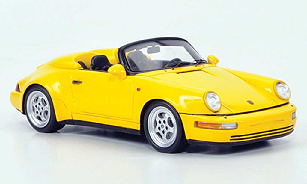 Porsche 993 Turbo 1/43 Spark 964 Speedster look jaune 1 miniature