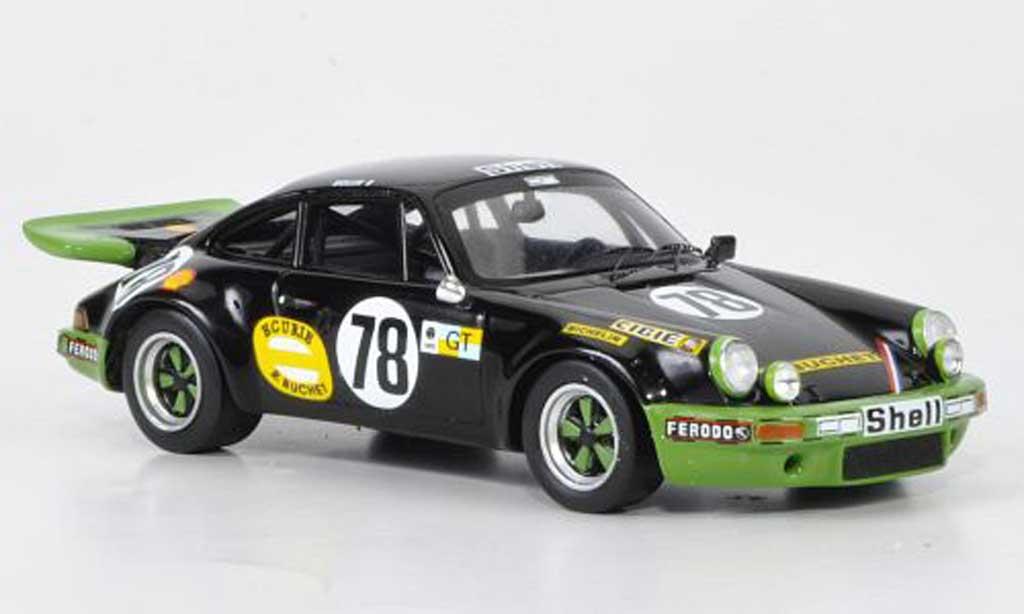 Porsche 930 1/43 Spark 911 Carrera R No.78 B.Wollek/C.Grandet 24h Le Mans 1975 miniature