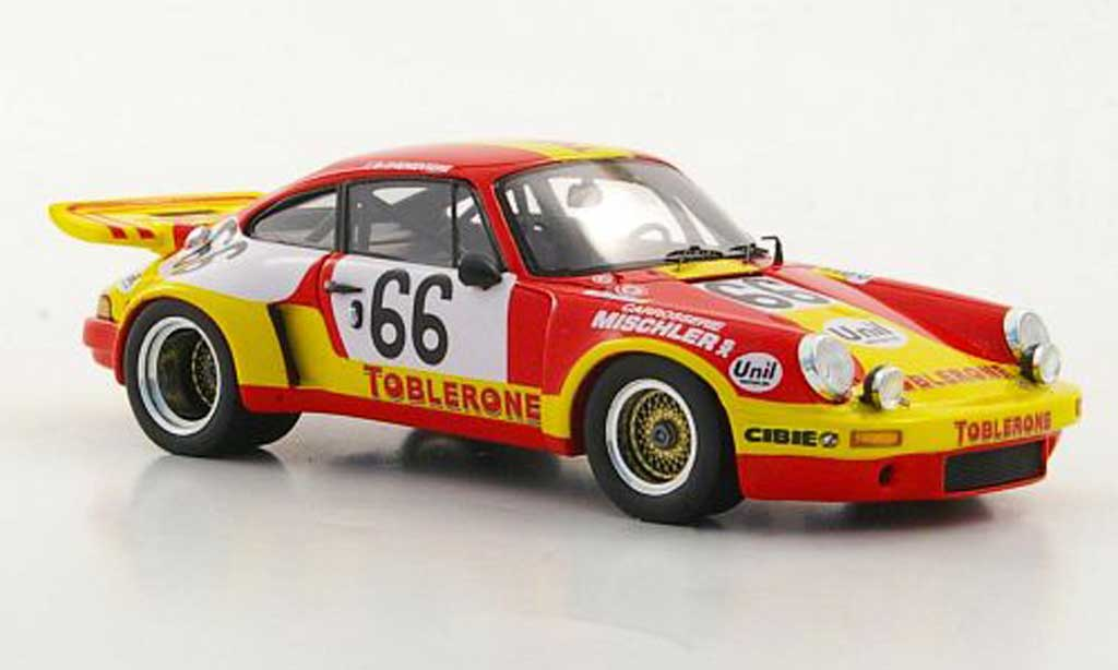 Porsche 930 1/43 Spark Carrera R No.66 Toblerone 24h Le Mans 1974 miniature