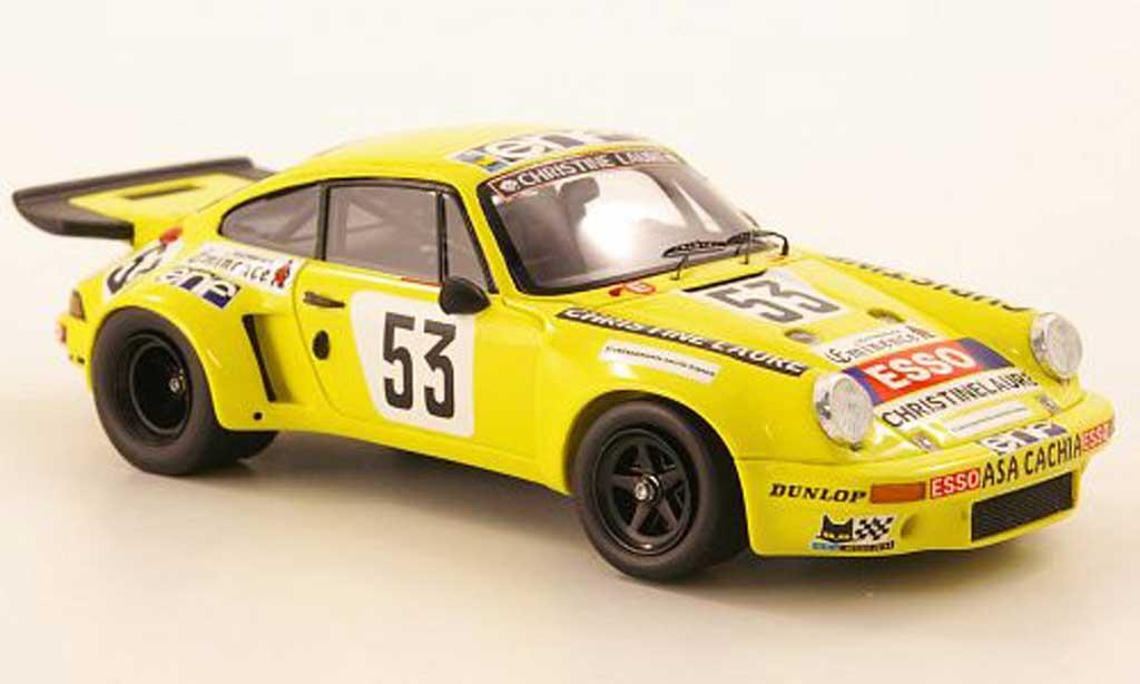 Porsche 930 1/43 Spark Carrera No.53 Christine Laure 24h Le Mans 1976 miniature