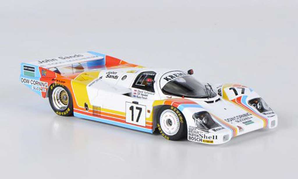 Porsche 956 1984 1/43 Spark No.17 Kremer T.Needell / D.Sutherland / R.French 24h Le Mans miniature