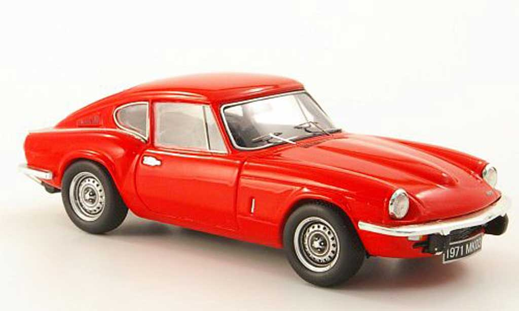 Triumph GT6 1/43 Spark MKIII rouge miniature