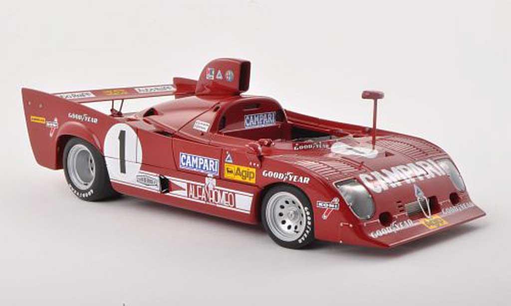 Alfa Romeo 33 1/18 Autoart TT 12 No.1 1000km Nuerburgring 1975 Merzario/Lafitte diecast model cars