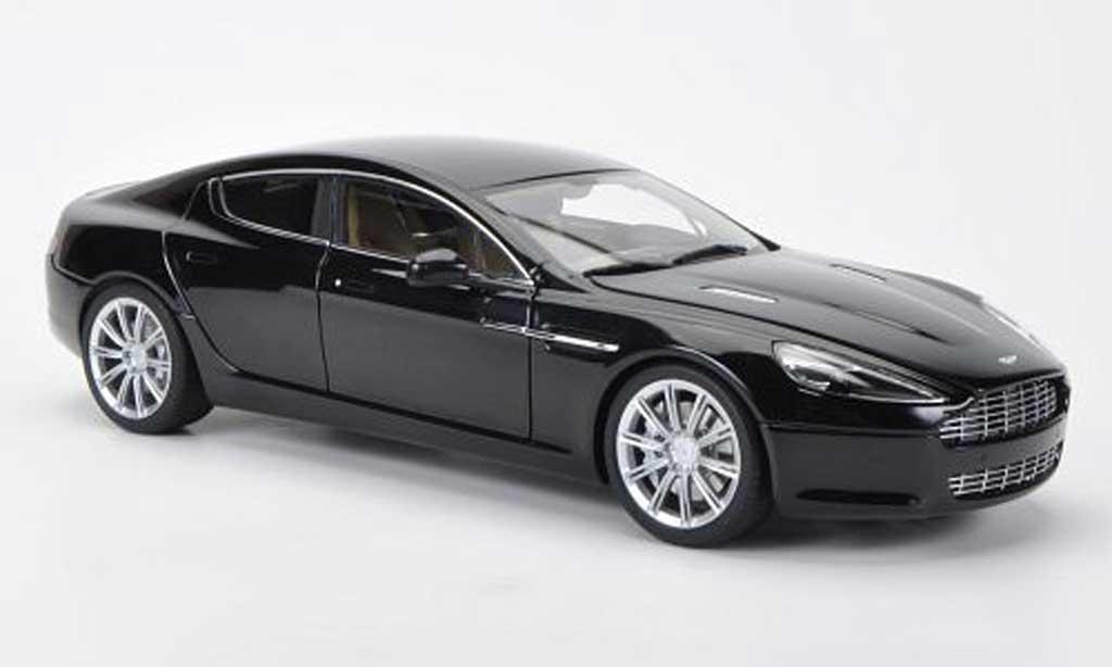 Aston Martin Rapide 1/18 Autoart noire LHD 2010 miniature