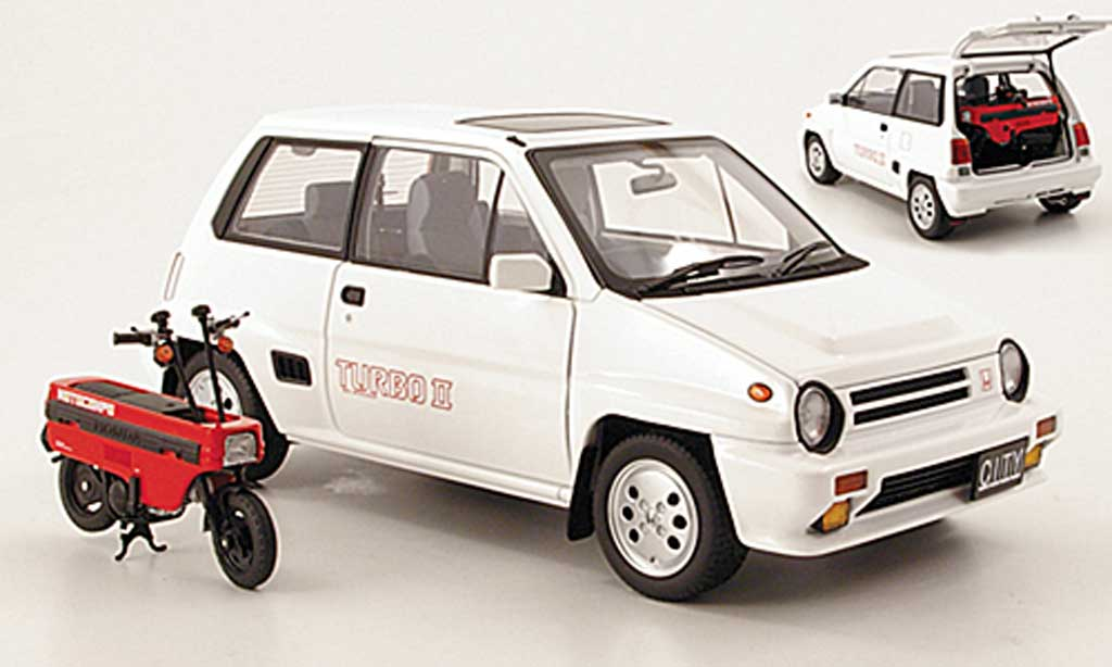 Honda City Turbo 1/18 Autoart II blanche 1983 miniature