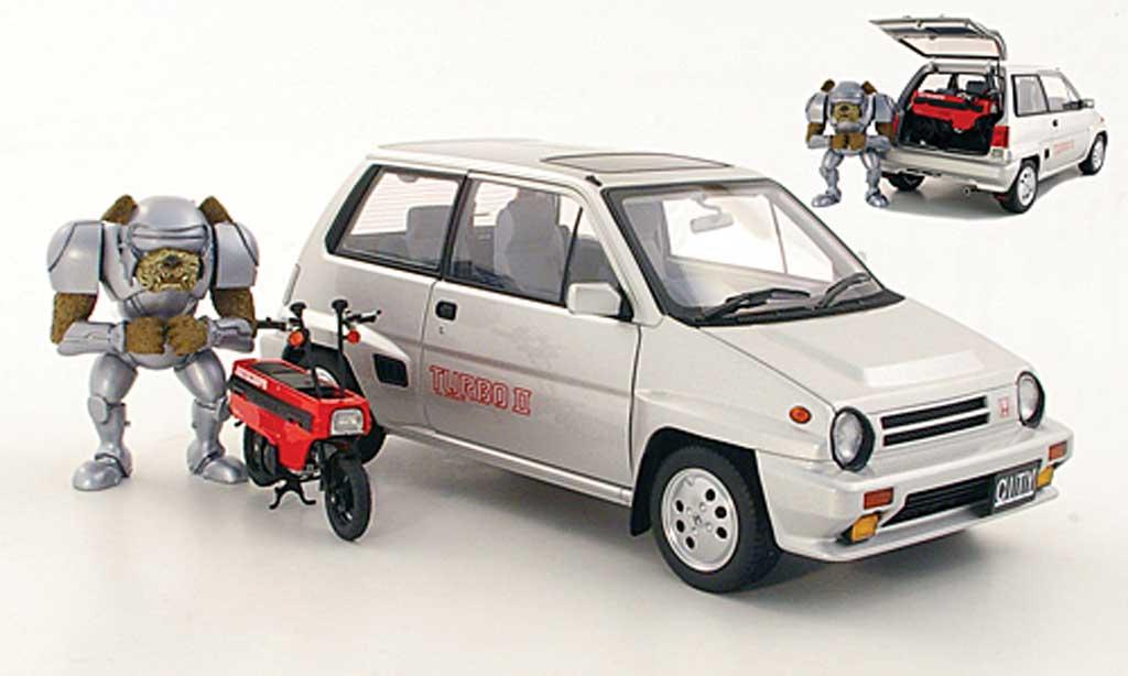 Honda City Turbo 1/18 Autoart II grise metallisee 1983