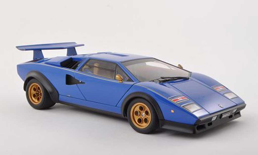 Lamborghini Countach LP 500 1/18 Autoart S Walter Wolf Edition bleu   1975 miniature
