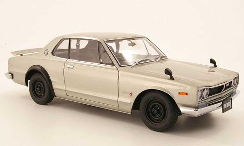Nissan Skyline 2000 1/18 Autoart GTR (KPGC 10) grise RHD 1969 miniature