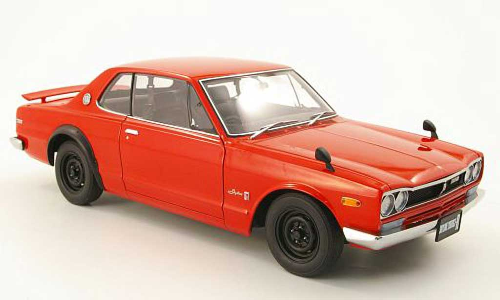 Nissan Skyline 2000 1/18 Autoart gt-r (kpgc 10) red 1969 diecast model cars