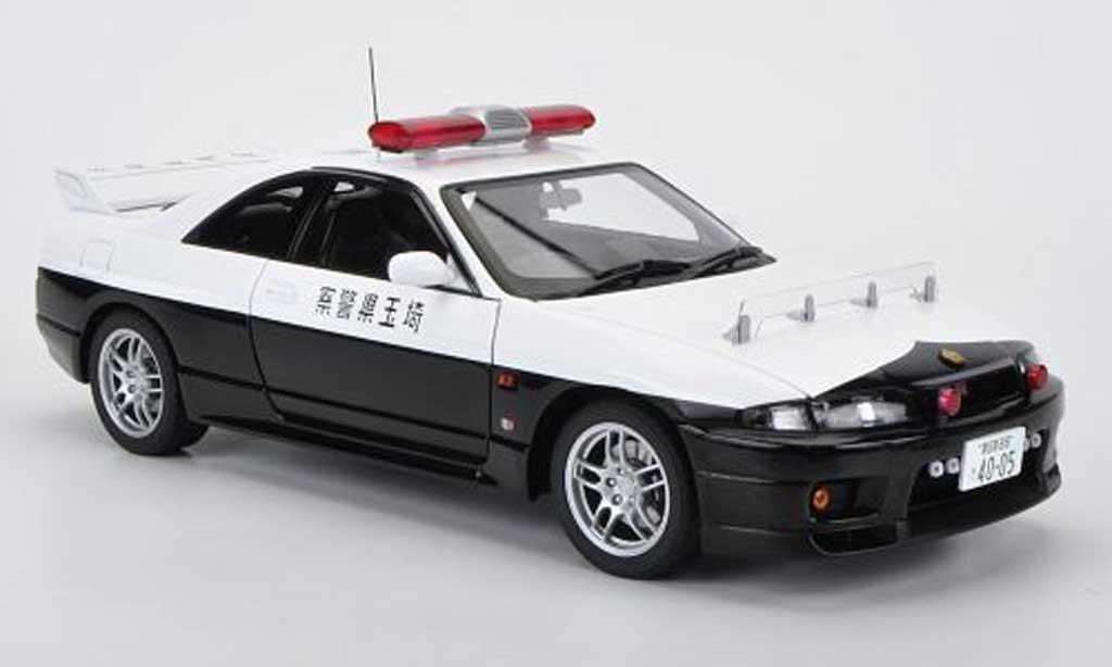 Nissan Skyline R33 1/18 Autoart GT-R japanische Police miniatura